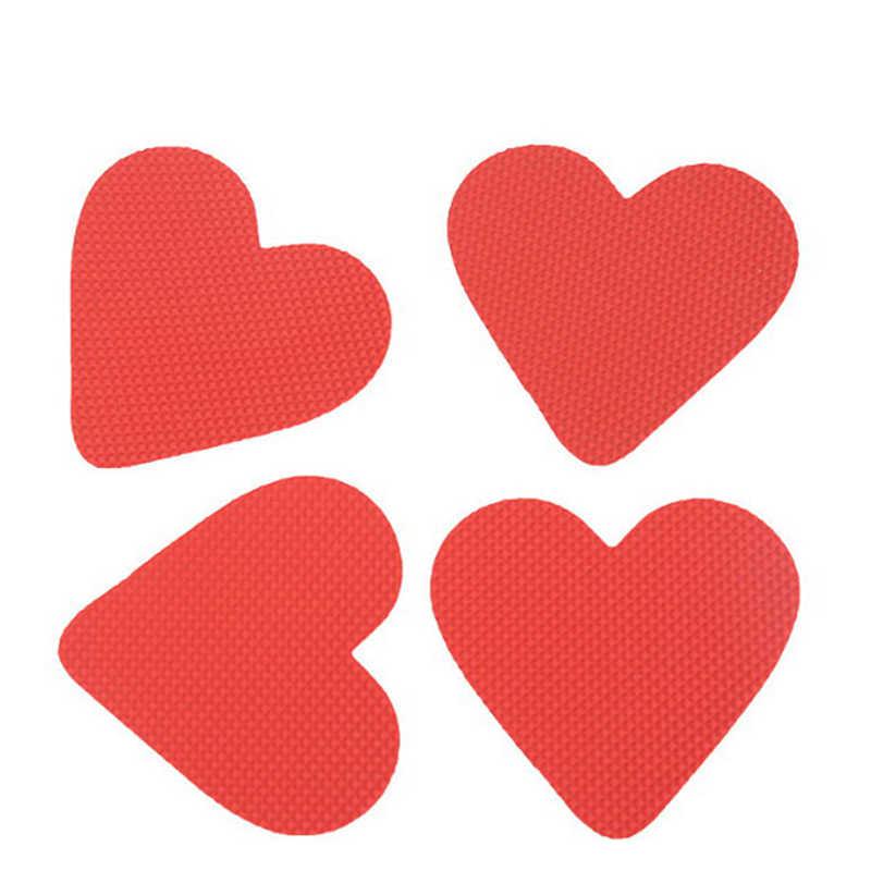 2 unids/par duradero en forma de corazón adhesivo antideslizante de resina de vinilo autoadhesiva suela antideslizante Almohadillas protectoras de zapato almohadillas cojín de plantillas