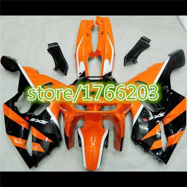 ABS Mold Fairing For Kawasaki ZX-6R ZX6R ZX 6R 1994-1997 94 95 96 97 Orange Black ZX 6R 1994 1995 1996 1997 fairing set
