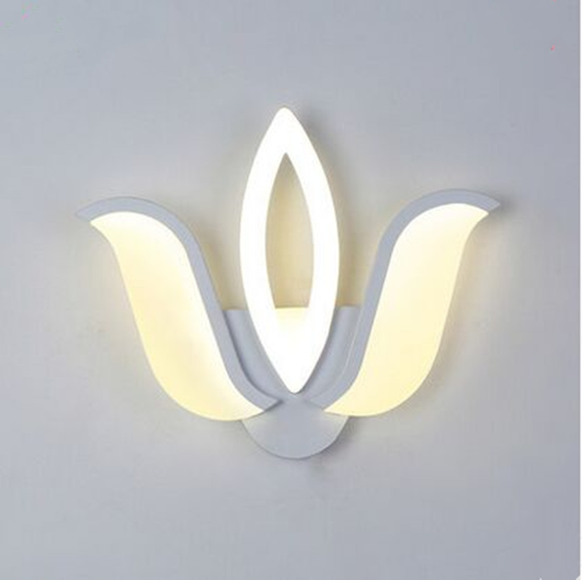 220V LED wall lamp bedside lamp living room corridor restaurant bedroom balcony aisle stairs creative modern simple wall lights wall light 12w led wall lamp bedroom bedside living room hallway stairwell balcony aisle balcony lighting ac85 265v hz64