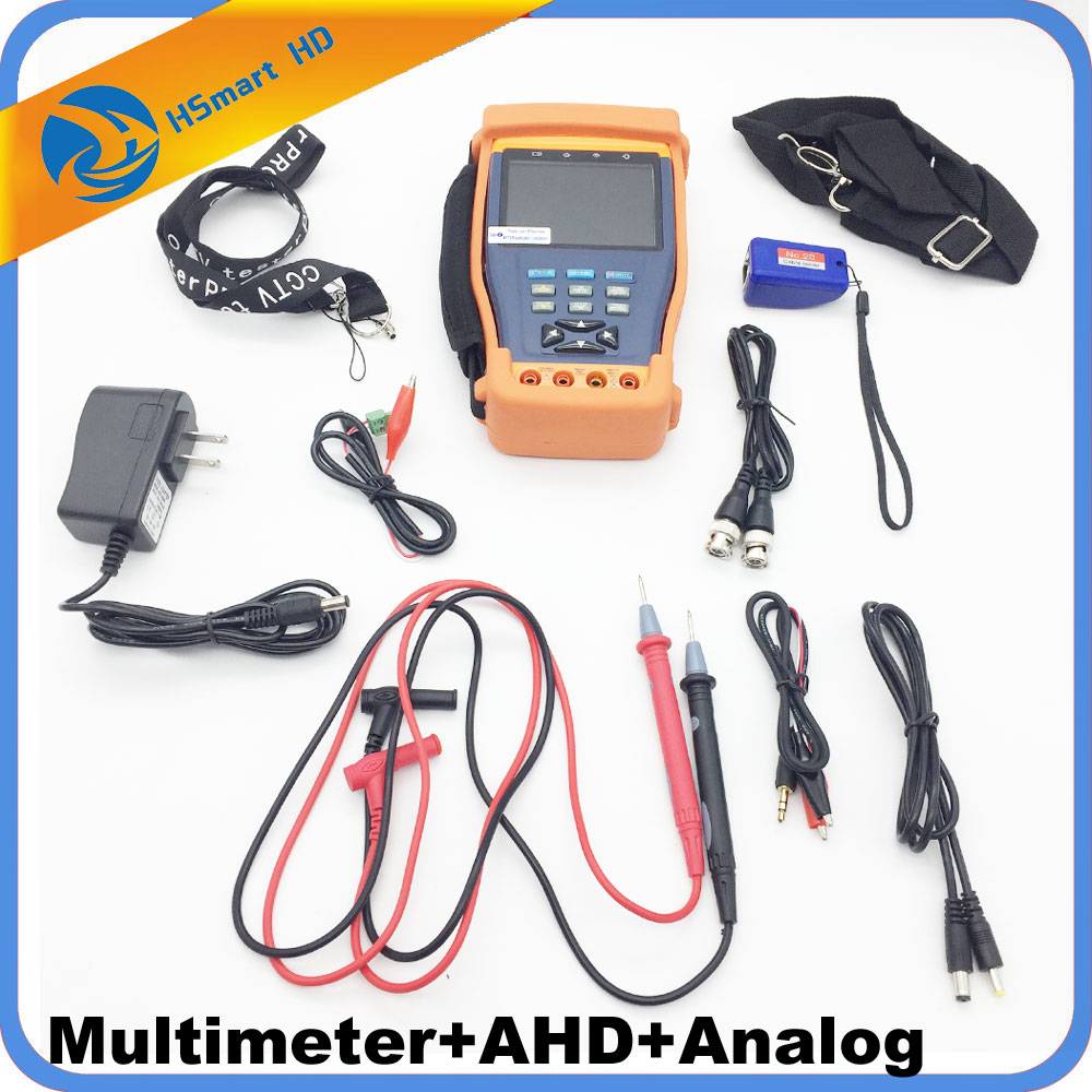 New CCTV 3.5 Two in one HD AHD Tester CCTV Multimeter Tester Monitor AHD 1080P and Analog Camera Testing UTP Cable test 12V1A