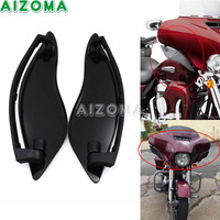 Black Motorcycle Fairing Wind Air Deflectors ABS Upper Fairing Side Wing Deflector For Harley Electra/Street/Tri Glide 2014 2018