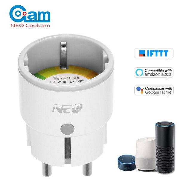 NEO Coolcam Wifi inteligente del zócalo enchufe inteligente casa Control de voz Alexa Google IFTTT función de temporización APP Control remoto inteligente control
