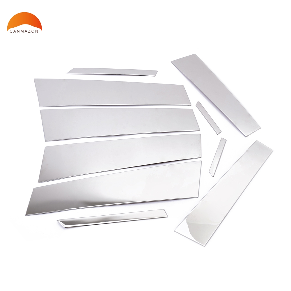 For Peugeot 3008 Stainless Steel 2008 2009 2010 2011 2012 Center Pillar Post Window Middle Frame Cover Trim Decoration 10pcs stainless steel full window with center pillar decoration trim car accessories for hyundai ix35 2013 2014 2015 24