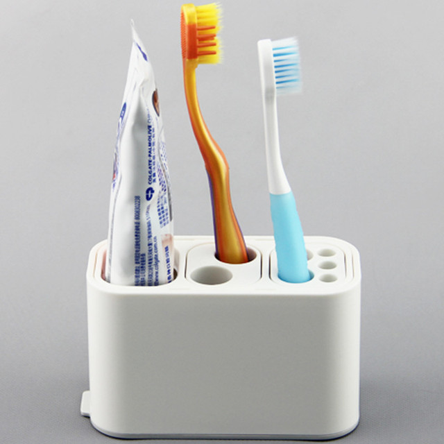 Detachable Toothbrush Variable Slot Electric Toothbrush Rack With Multiple  Sundries Storage Rack