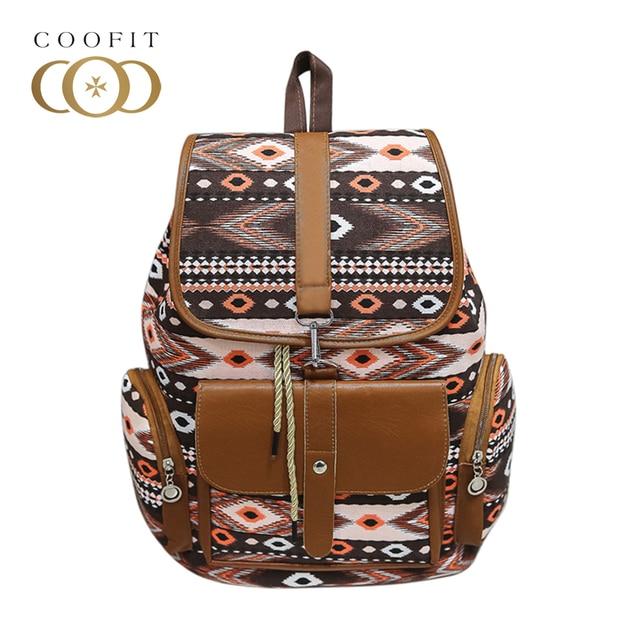 bbea1a6624 Coofit Vintage String sac à dos d'école pour enfants filles femmes toile sac  à