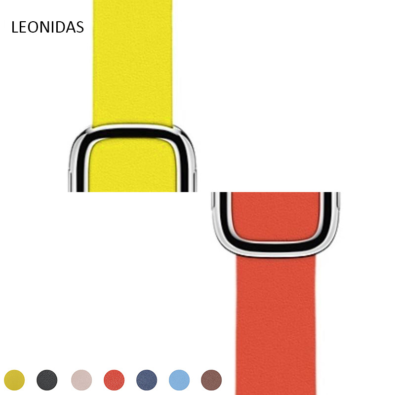 LEONIDAS leather modern buckle strap for apple watch band 42mm/38mm Wrist bracelet Genuine skin watchband for iwatch series 123 таблетки для посудомоечных машин all in one silver 56 шт paclan ра 020014