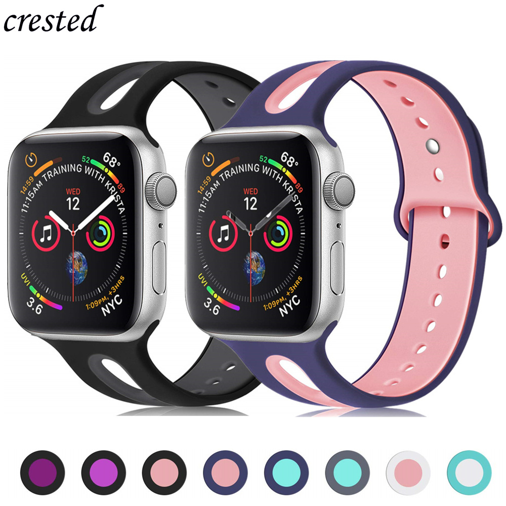 Silicone strap For Apple Watch band 38mm 42mm iWatch 4