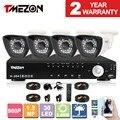 Tmezon 4ch 1.3mp ahd 960 p cctv sistema de segurança 4 pcs dia noite impermeável do IR Da Câmera de Segurança Sistemas De Alarme Casa Diy Kit de 1 TB 2 TB