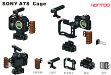 A7S Rig DSLR Rig Cage W/ Top Handle Baseplate Wooden handle for Sony A7S Camera for Tilta Movcam Lanpart 15mm rod system