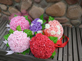 2017 Cheap Wedding Bouquet Bridal Bridesmaid Purple/Pink/Red/White Colorful Artificial Flower Rose Bride Bouquets buque de noiva