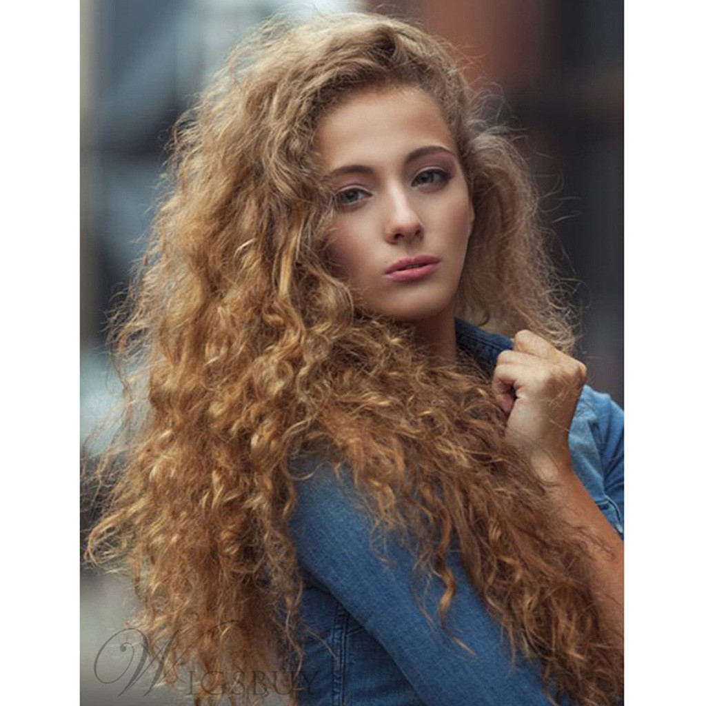 Factory price 1pc Women Fashion Lady False Wig Brown Lace Front Hair Wave Synthetic Long Curly Wigs 24 Inches Styling Tools May8Factory price 1pc Women Fashion Lady False Wig Brown Lace Front Hair Wave Synthetic Long Curly Wigs 24 Inches Styling Tools May8