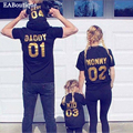 EABoutique New Fashion Letter NUMBER 01 family matching clothes matching mother daughter father son baby romper