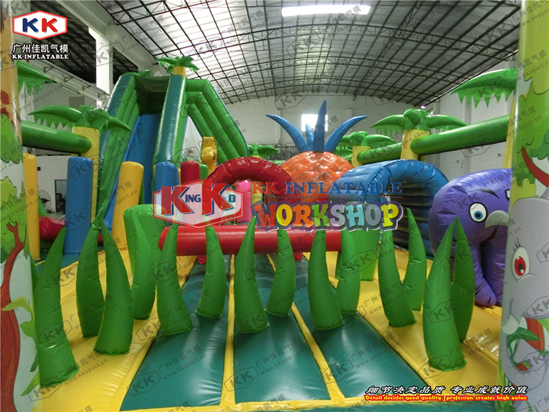 Forest slide combined inflatable trampoline Custom designed factory direct selling large amusement equipment