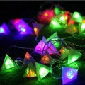 38 Three pyramid Lanterns Festival Necessary LED Light Wedding Party Decoration 10m Christmas Light Fit Outdoor Indoor