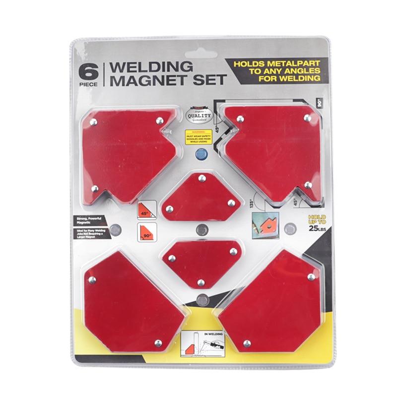 6PCS Soldering Locator Magnetic Magnet Corner Arrows Welder Welding Holder Tool