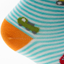 Boy's Cotton Car Printed Striped Socks