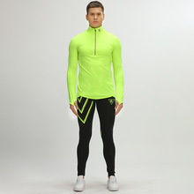 Marca otoño invierno hombres ceñido gimnasio establece respirable de secado rápido elástica conjuntos de ropa deportiva yoga culturismo running gimnasio trajes