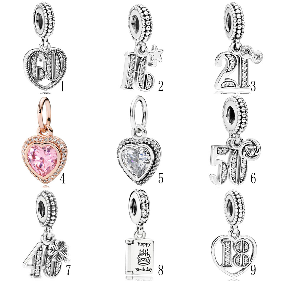 Top 10 Jewelry Gift Sterling Silver Number 9 w//Lobster Clasp Charm