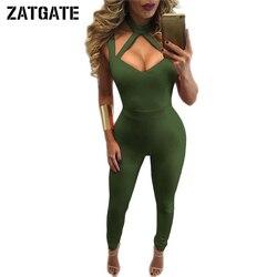 Plus size 2017 xxxl army green jumpsuit women hollow out long pants halter neck sexy club.jpg 250x250