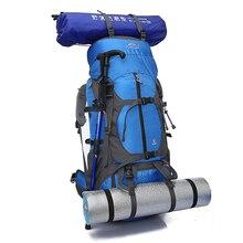 цена на Large Capacity Real 65L Outdoor Backpack Travel Multi-purpose Climbing Backpacks Camping Hiking Rucksacks Waterproof Sport Bag