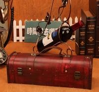 Vintage Archaistic Red Wine Box Portable Wood Wine Box Retro Gift Wine Storage Box Bottle Packag