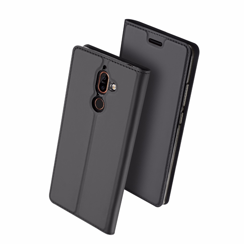 DUX DUCIS Flip Case for Nokia 7 Plus PU Leather TPU Soft Bumper Protective Card Holder Wallet Stand Cover Mobile Phone Bag