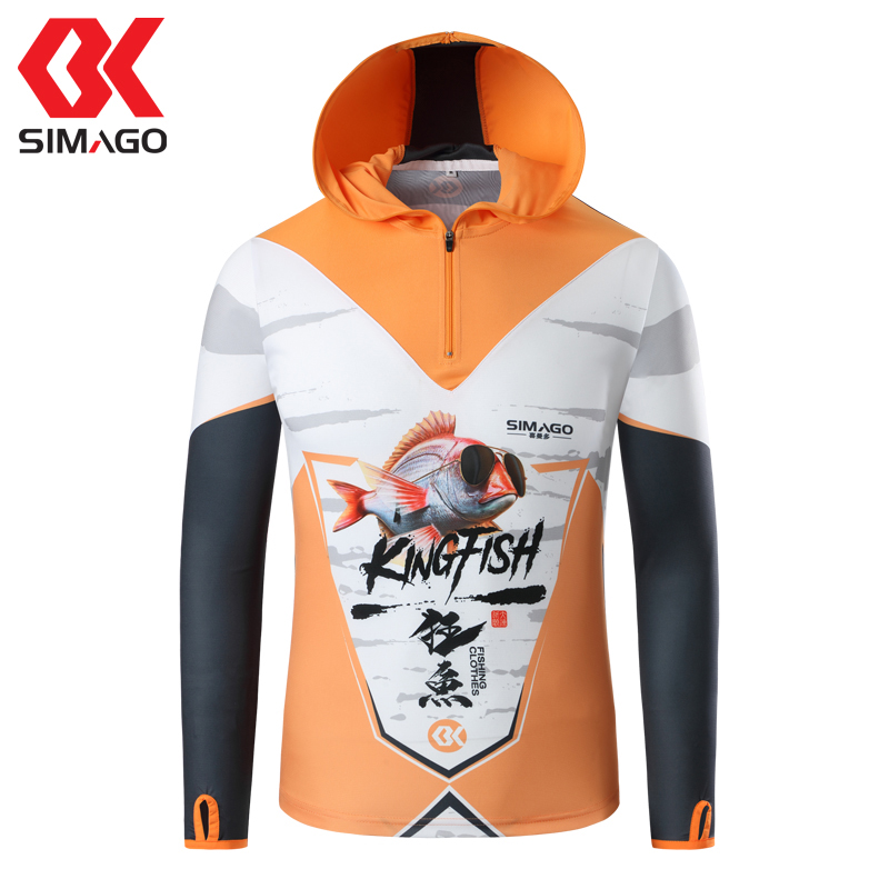 Fishing Clothing Breathable Sunscreen Shirt Men Quick Drying Anti-UV Sun Protection Long Sleeve Hiking Hooded Fishing Shirts men outdoor long sleeve quick drying shirt