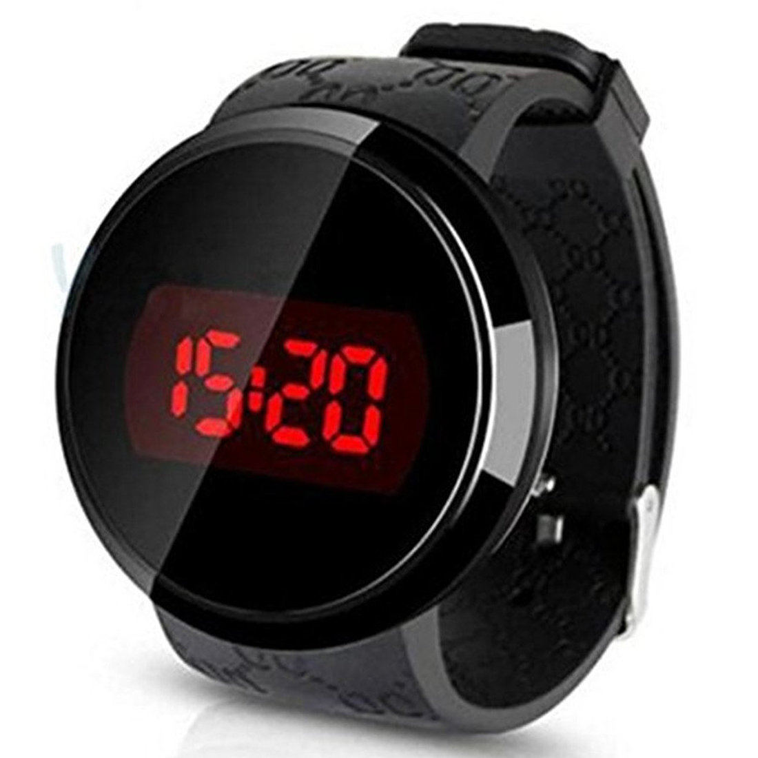 Hot Deal Watch, Sunstone Fashion Men LED Touch Screen Date Day Silicone Bracelet Watch Digital LED Touch Watch Black image
