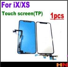 1 قطعة آيفون X/XS شاشة اللمس لوحة اللمس الاستشعار محول الأرقام الزجاج الأمامي الخارجي لمس TP شاشة لا LCD آيفون XS