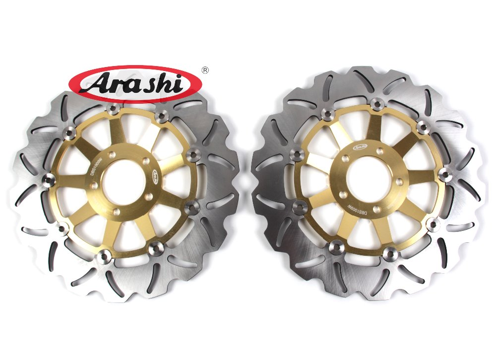 Arashi 1 Pair CNC Front Brake Discs Rotors For KAWASAKI ZXR 400 1991 1992 1993 1994 1995 1996 1997 1998 1999 2000 2001 2002 arashi 1pair cnc front brake disc rotors for ducati monster 900 1993 1994 1995 1996 1997 1998 1999 2000 2001 2002 2003 2004