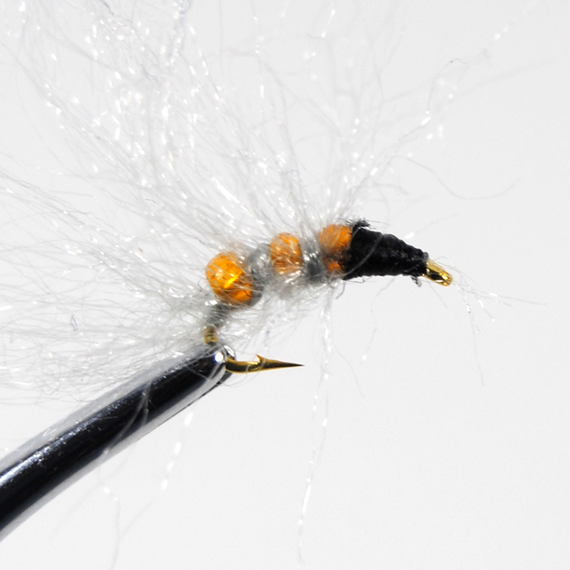 6PCS//Lot Glass Bead Caddis Larva Pupa Nymph Flies Trout Fishing Lures Size #14