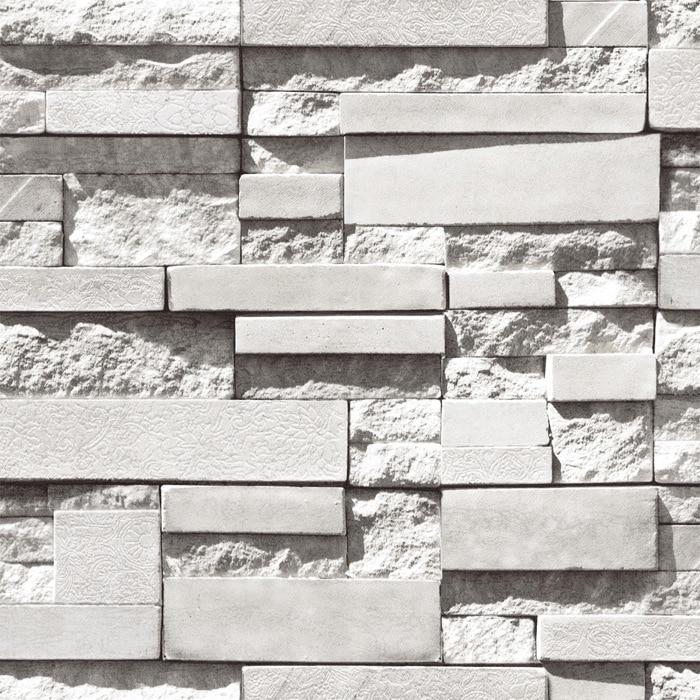 Stereoscopic 3D Film Imitation Brick Wall Pattern Wallpaper Background Bedroom Living Room TV Backdrop