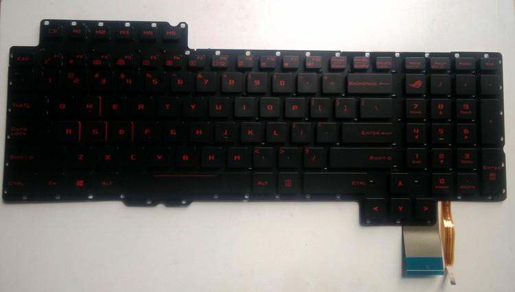New for ASUS ROG G752VS G752VM G752VS-XB72K G752VS-XB78K G752VS-RB71 US keyboard backlit 0KNB0-E610US00 0KN0-SI1US11 V153062A ноутбук asus rog g752vs kbl gc438t 17 3