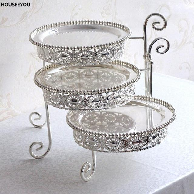 Silver Metal Cake Stand Classical Sugar Bread Dessert Plate Display Holder Tools Fittings for Wedding Birthday  sc 1 st  AliExpress.com & Silver Metal Cake Stand Classical Sugar Bread Dessert Plate Display ...