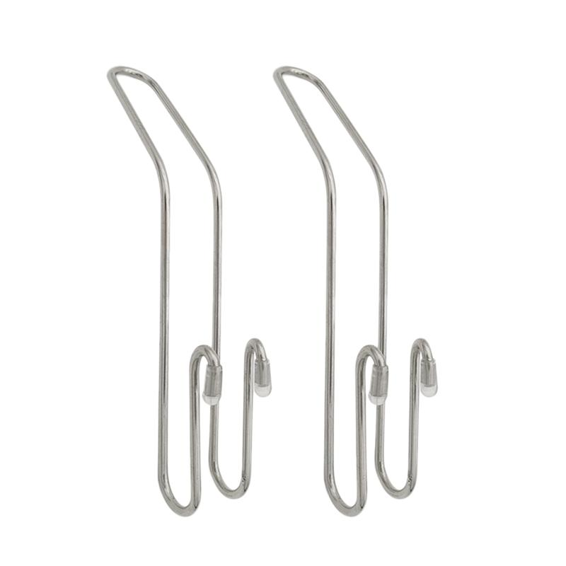 2pcs Stainless Steel Car Hooks Space-saving Metal Multi-functional Stainless Steel Creative Hooks Tools For Car Chair Hanging