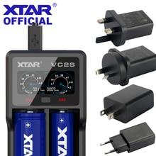 Xtar VC2S Va Lcd scherm Micro Usb Aangedreven Draagbare Power Bank Lader Toepassen Om 3.6V/3.7V li Ion/Imr/Inr/Icr 26650 18650 Lader