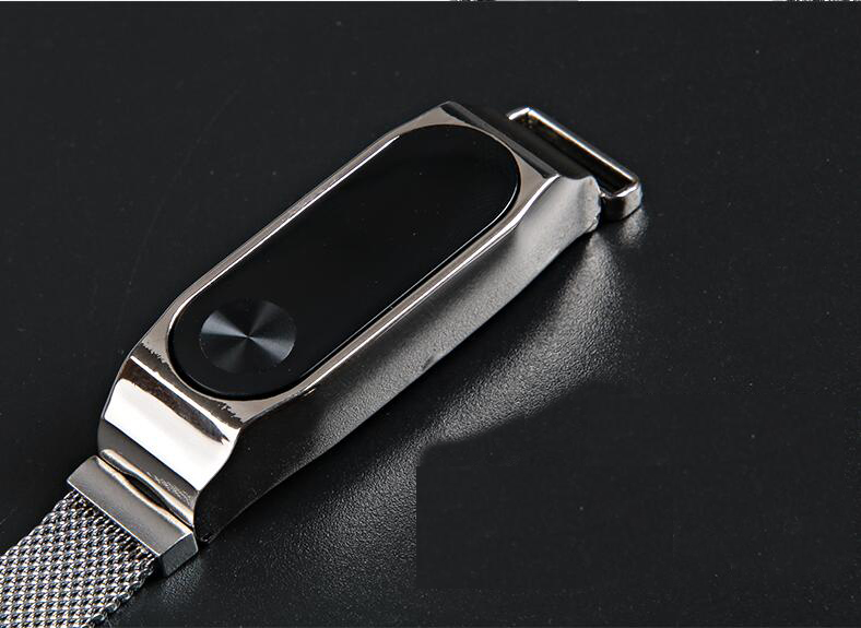 2018 straps For Xiaomi Mi Band3 2 Metal Wrist Strap Milanese band For Miband 3 2 band Bracelet Wrist stainless steel band belt for xiaomi mi band 3 bracelet strap for mi band 3 wrist band miband 3 smart watch strap belt stainless milanese loop wrist bands