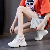 New Increase In White Shoes, Women's Fashion, Breathable Casual Sports Shoes Off White Shoes Brand  Zapatos Rosados Mujer
