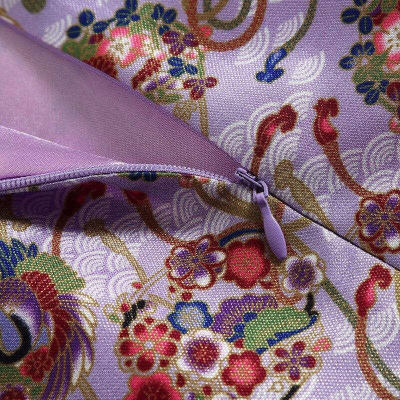 Mince Street Robes Femmes High Rouge Élégant Trois Mode Automne Col Bouton Robe Style Montant Split Quarter Qipao De Chinois Femelle 1wUqRCxZ