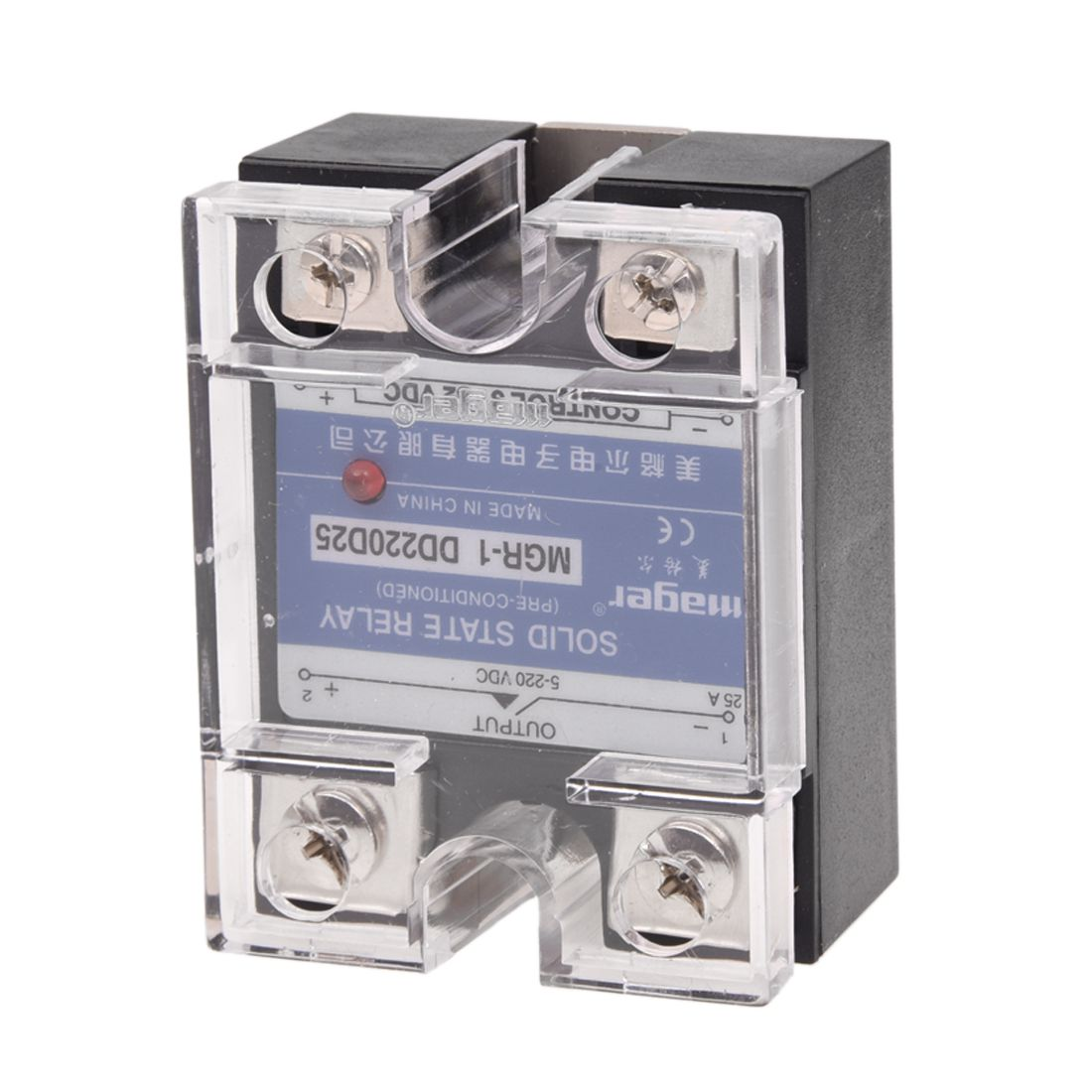 DC to DC Single Phase Solid State Relay SSR 25A 3-32V 5-220V w Transparent Cover single phase solid state relay ssr 25da 25a 3 32v dc 90 480vac heat sink