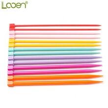 Looen Brand 25CM DIY Crochet Hooks Knitting Needles Multicolor Soft Plastic Grip
