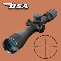 BSA TMD 4-14X44 FFP Hunting Riflescope First Focal Plane Glass Mil Dot Reticle Tactical Optics Sight with Windage Elevation Lock