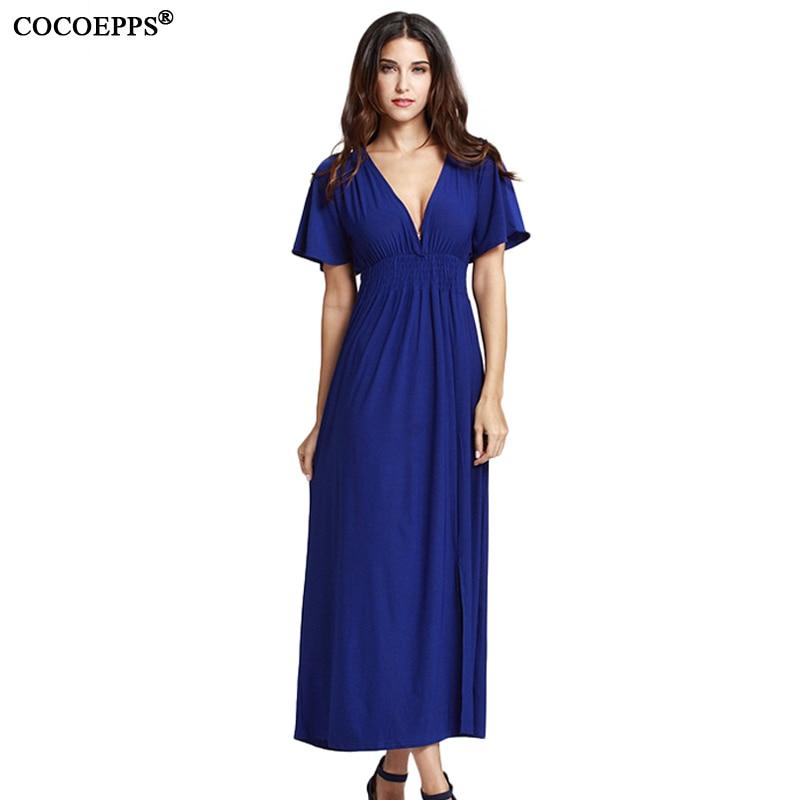 2019 letní dámské večerní šaty Maxi šaty plus velké V-Neck krátké rukávy šaty elegantní velké velikosti dlouhé šaty 4XL 5XL oblečení  t
