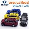 1:32 Diecast Modelo de Hyundai Veracruz, juguetes Para Niños/Niños Como Regalo, 15 CM Coche Con Retirarse Función/Música/Luz/la Puerta se puede abrir