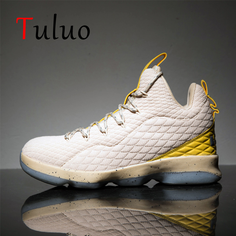 TULUO 2019 New Men Basketball Shoes Outdoor High Top Sneakers Comfortable Basket Homme Athletic Jordan Male Trainers Sport Shoes