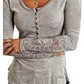 2015 новинка женщин футболки с длинными рукавами кружева лоскутное майка женщин топы тонкий свободного покроя топ майки женской одежды Большой размер
