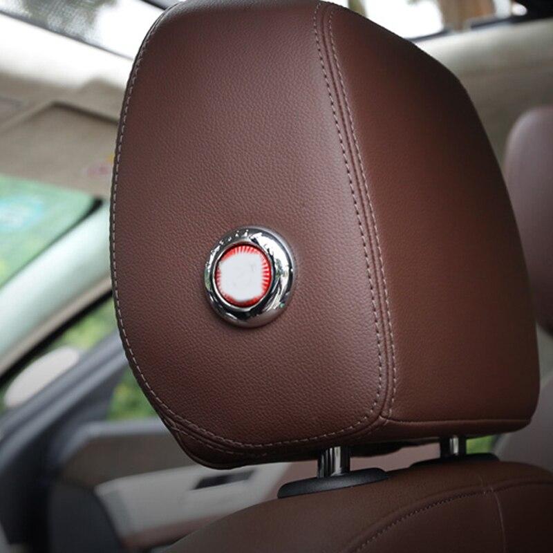 2PCS ABS Matte Chrome Interior Accessory Car Sticker Seat Adjustment CoverTrim for Jaguar XE//F-Pace//XFL//XF X761 2016-2017