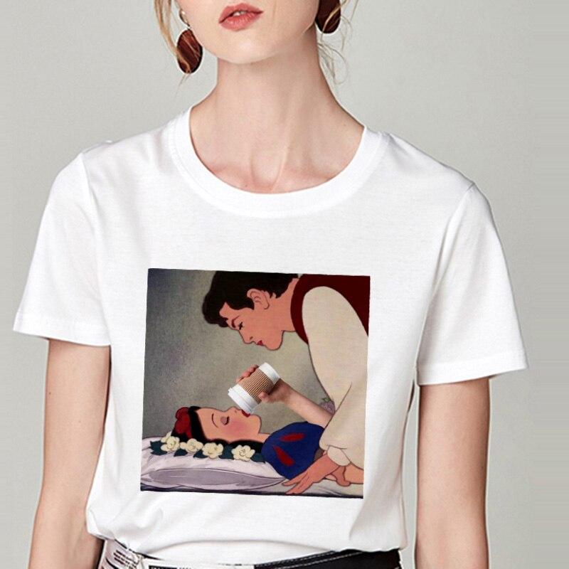 Summer Tshirt Snow White Fun Fashion Printed T-shirt Spoof Personality Harajuku Funny Casual Thin Section T Shirt Women Clothing 4