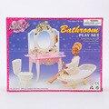 Genuine case for Barbie doll furniture and accessories bath toy / fantasy mini bathroom with a bath tub