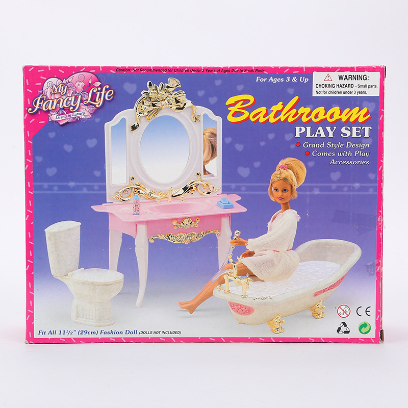miniature case for barbie furniture accessories Doll Gift Set girl children toys children play house simulation